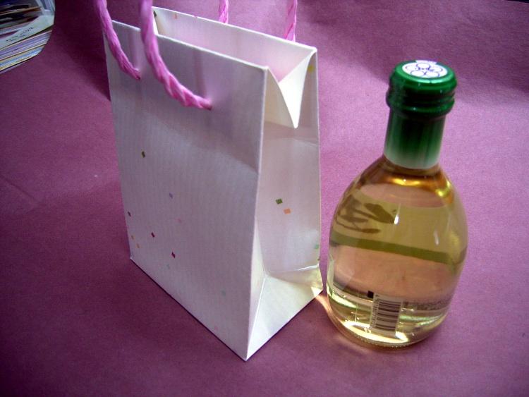 七夕の使用例:清酒用紙袋