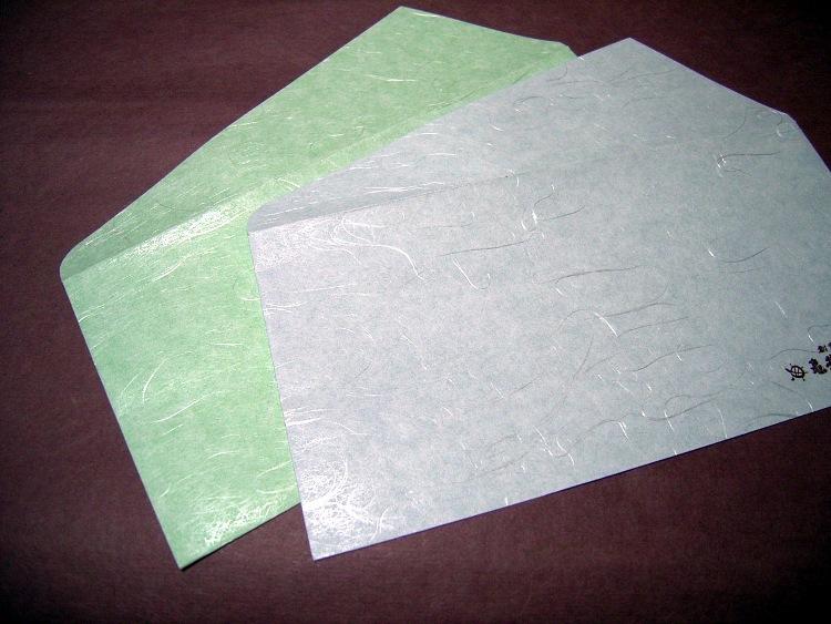 和紙封筒の表面