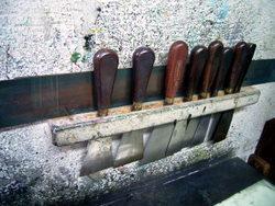 銅版画作製の道具