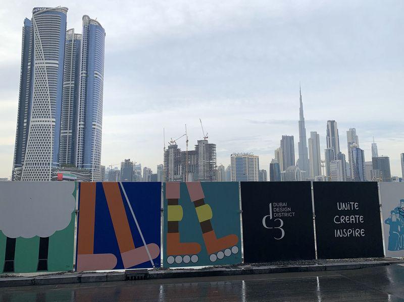 UAE・ドバイでの展示会場は中心部から少し離れた郊外の開発地区「d3」