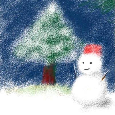 ピオネロで描いた雪だるま