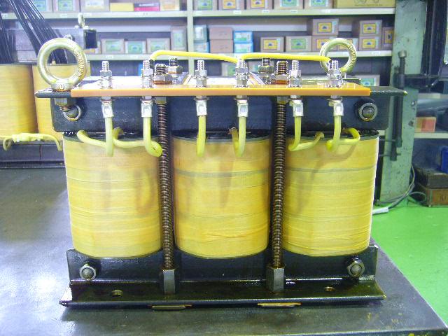 発電機試験用誘導負荷装置に組み込むリアクトル