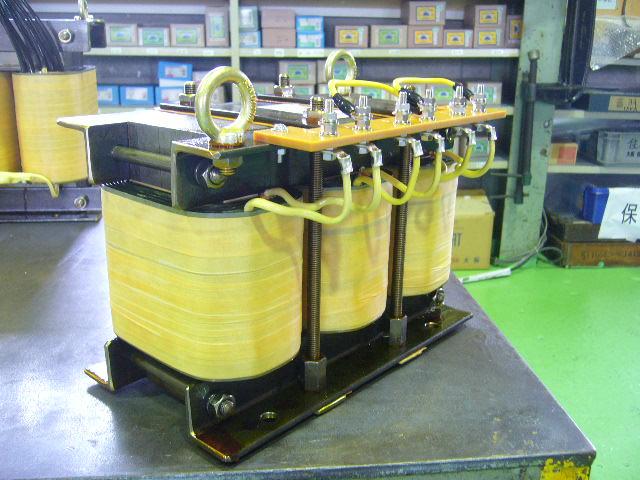 発電機試験用誘導負荷装置リアクトル