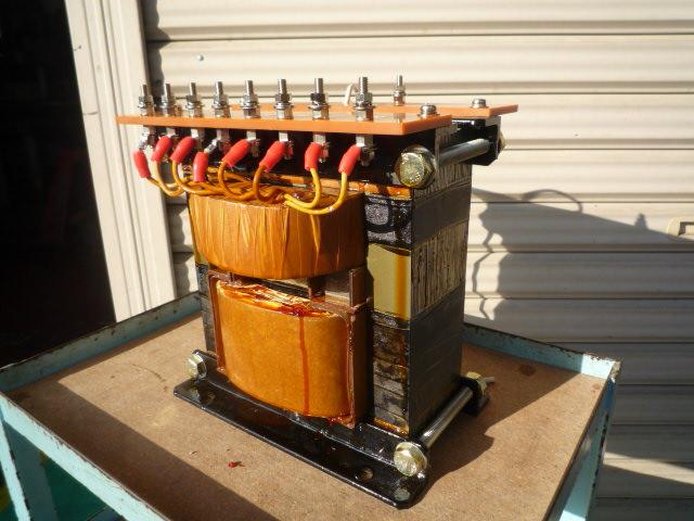 抵抗加熱蒸着装置用昇圧リーケージトランス