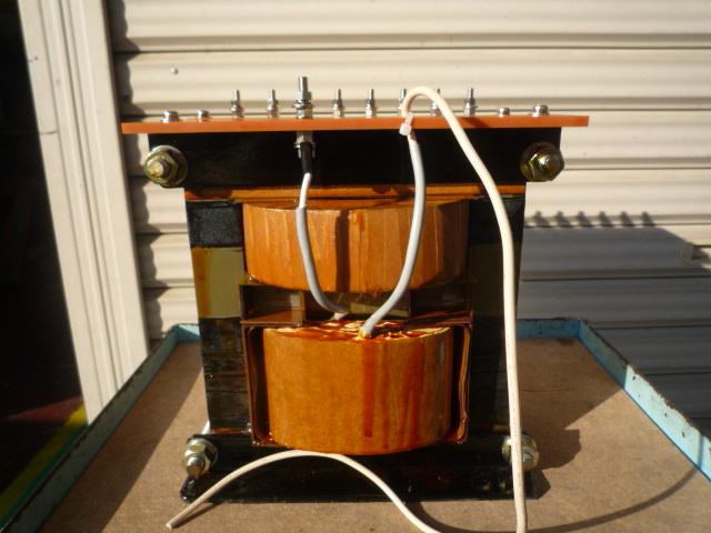 高電圧出力側抵抗加熱蒸着用昇圧リーケージトランス