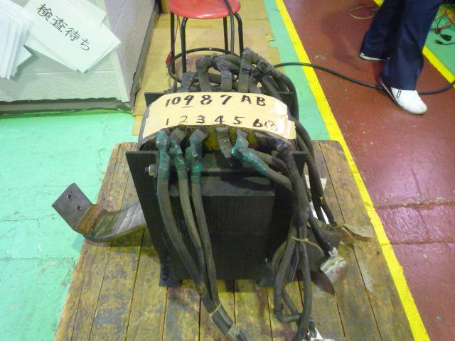 溶接機用変圧器の修理