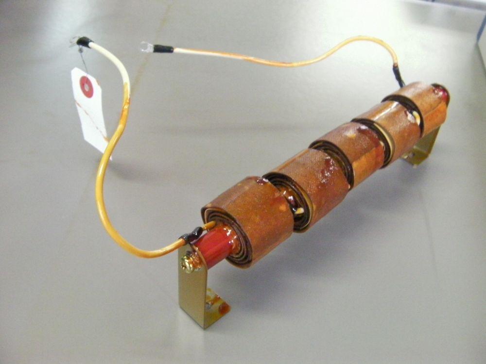 空芯コイル分割巻き線直列接続 油中使用