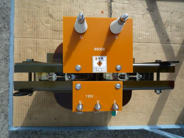 6600Vダウントランス カットコア2個を使った構成を採用