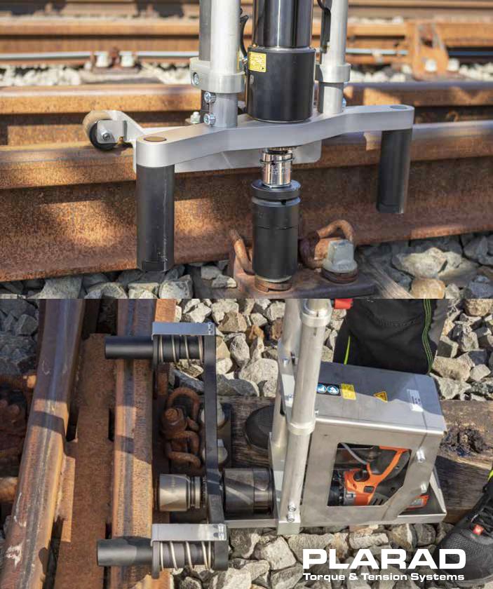 鉄道レール用コードレス電動トルクレンチ