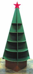ダンボール製クリスマスツリー