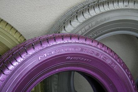 タイヤ塗装(ゴム用特殊塗料使用)