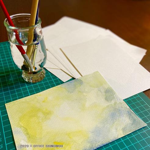 オフィスしのも カタログ製作 素材製作 水彩
